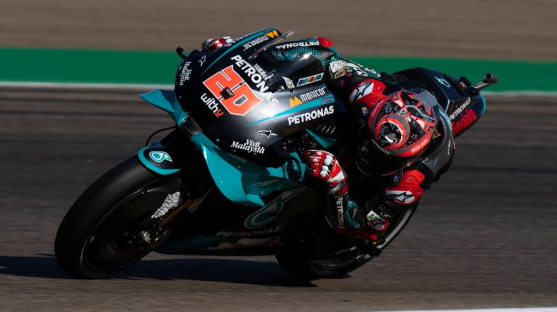 Quartararo suffers ugly high speed crash but escapes serious injury