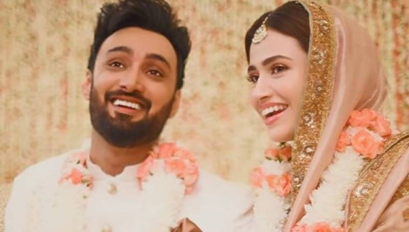 Sana Javed, Umair Jaswal tie the knot in intimate ceremony
