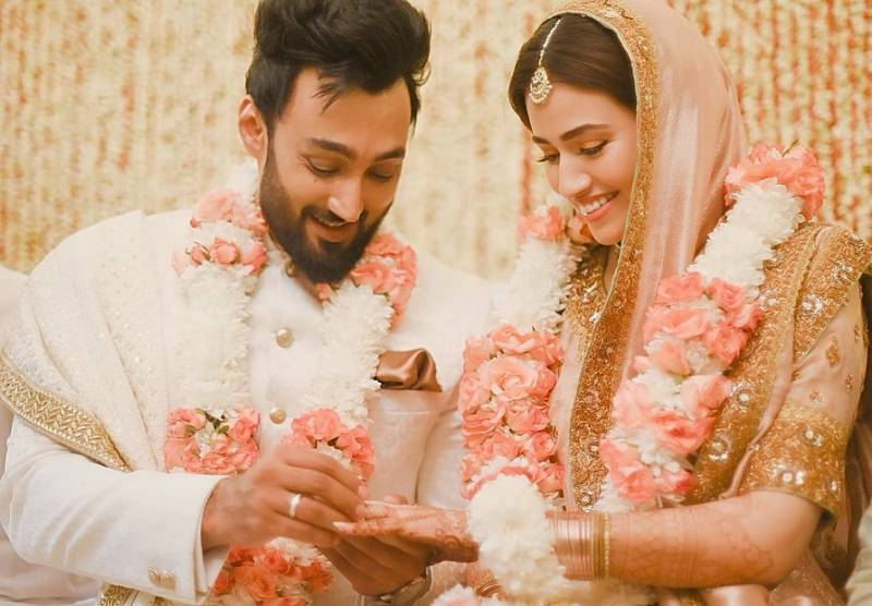Actress Sana Javed shares more wedding pictures