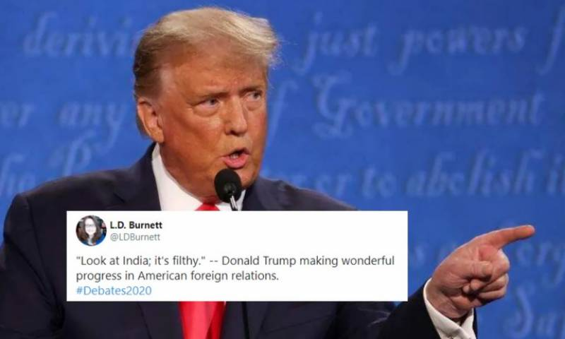 Look at India, it's filthy, Trump remarks during debate