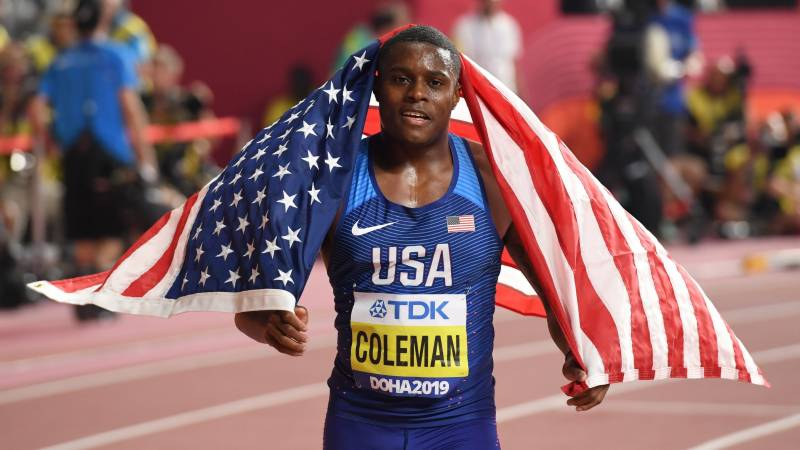 World 100m champion Coleman suspended for two years