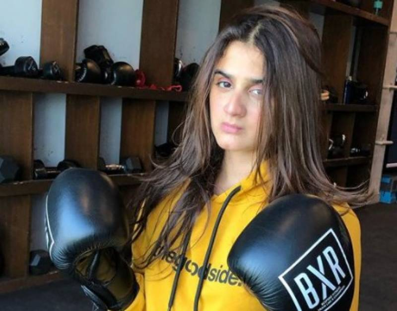 Actress Hira Mani puts on boxing gloves and warns haters