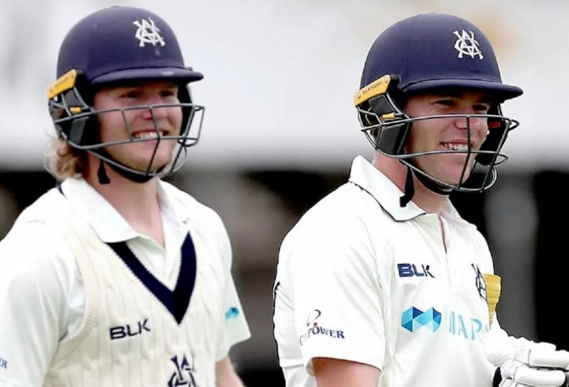 Pucovski, Harris smash Waughs' record with 486-run opening stand