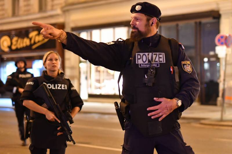 Gunman at large after Vienna shooting rampage leaves four dead