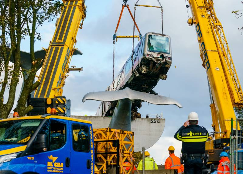 Job whale done as Dutch train lifted to safety