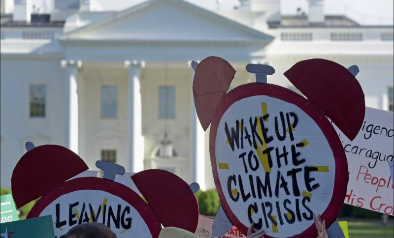 US formally quits Paris agreement as election hangs in balance