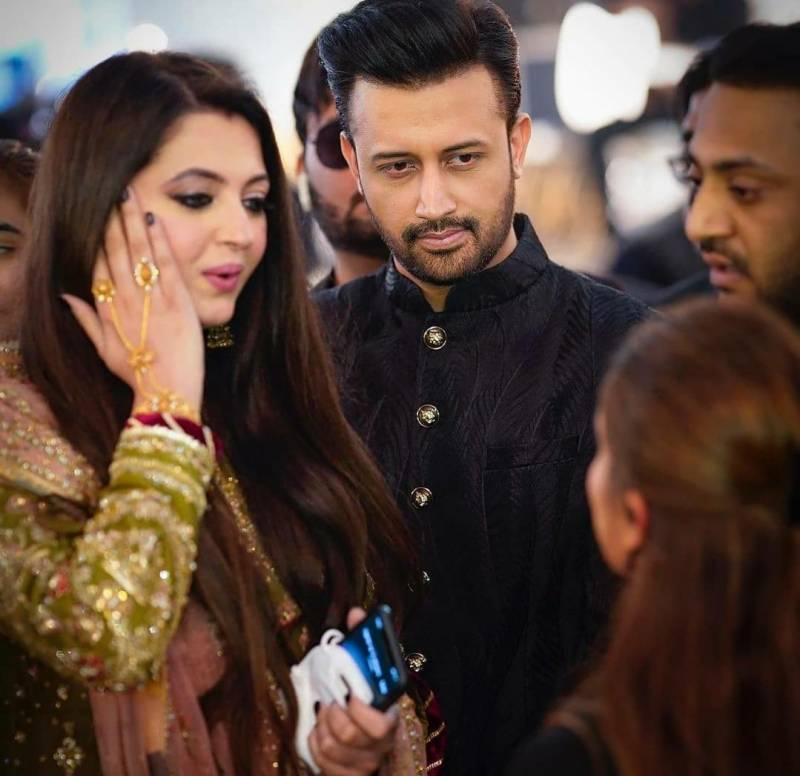 Atif Aslam spotted with his wife at big-fat wedding