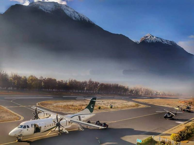PIA flight from Gilgit to Islamabad cancelled