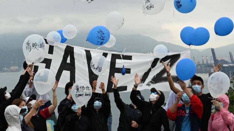 Balloon messages for Hong Kongers held in mainland China