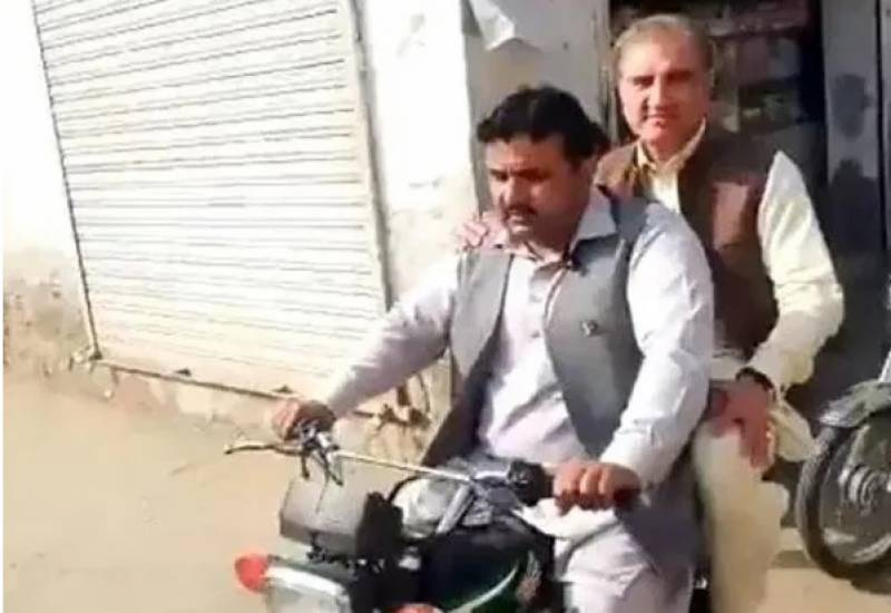 FM Qureshi goes 'Awami' to inspect ongoing development work