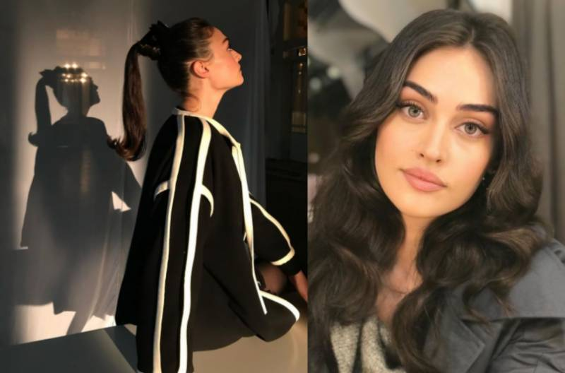 Esra Bilgic ups her fashion game with black and white outfit