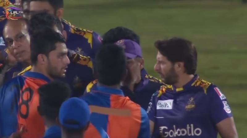 Shahid Afridi rebukes Afghan cricketer after his on-field spat with Amir