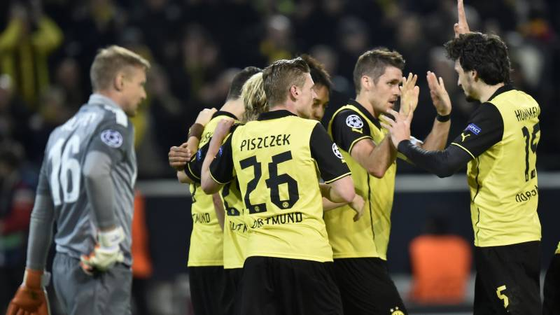 Eight Dortmund players missing for Zenit trip
