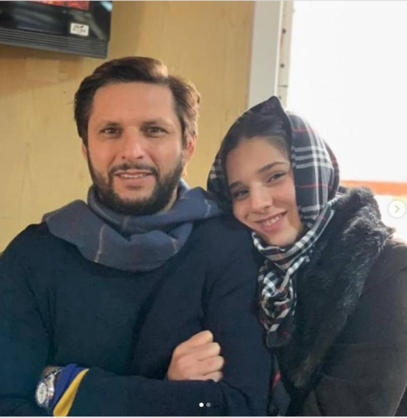 Shahid Afridi wishes daughter a happy birthday