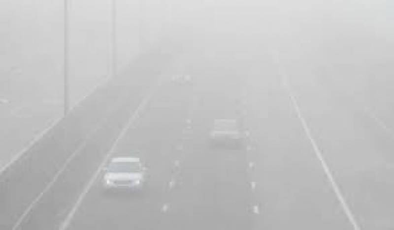 Motorway sections closed due to dense fog