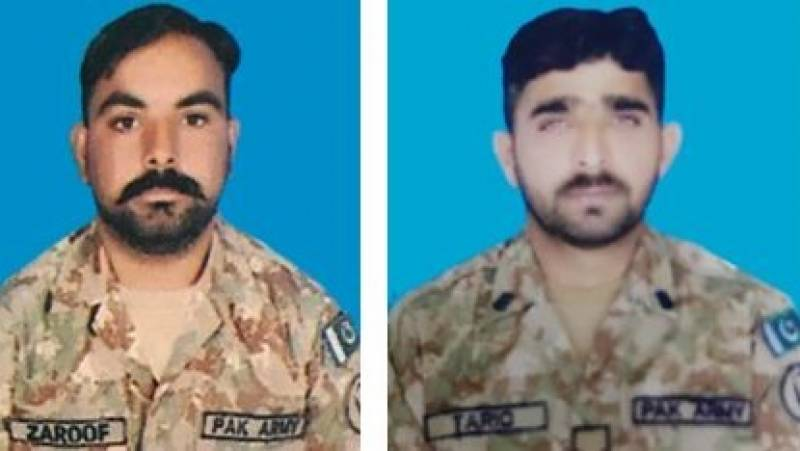 Two Pakistani soldiers martyred in unprovoked Indian firing along LoC