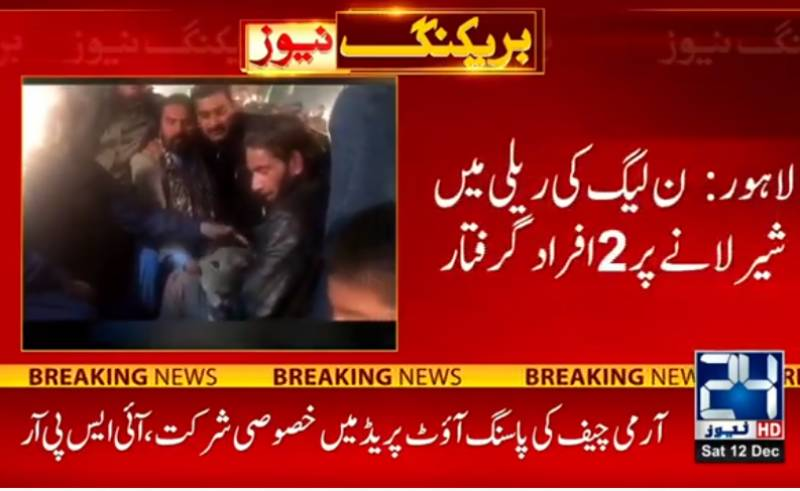 Two caged for bringing lion in open for PML-N rally