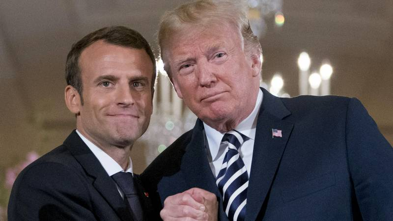 Trump wishes Macron 'speedy recovery' from Covid-19