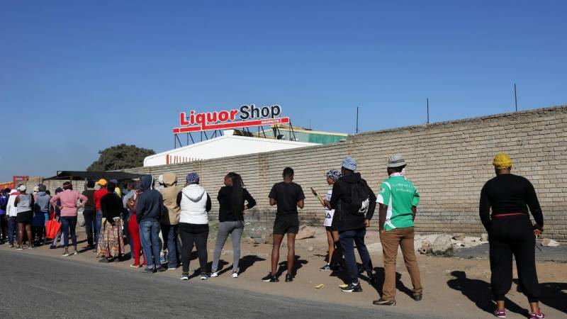 South Africa bans alcohol sales, requires masks in public