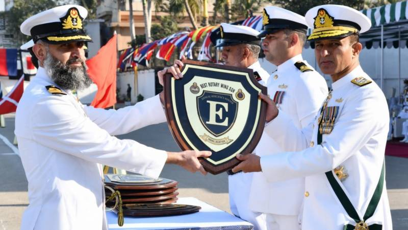 Navy conducts fleet annual efficiency competition parade