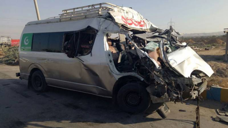 Three killed in van-car collision in Hassan Abdal