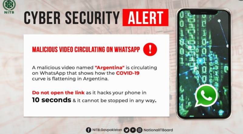 Pakistan issues cyber alert about an Argentina video game