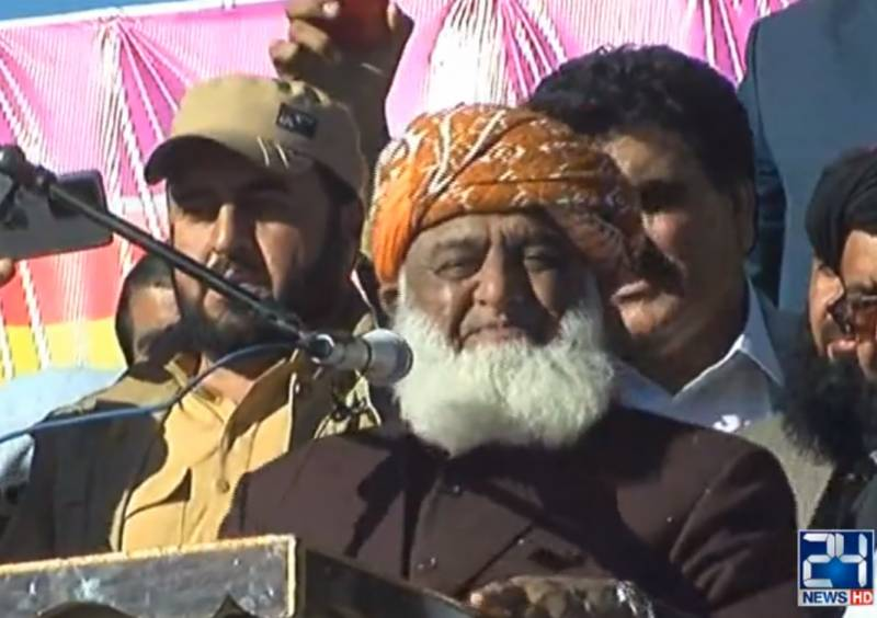Maulana Fazl warns of 'storm' if Imran govt stays