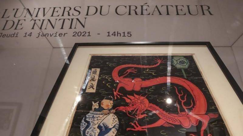 Tintin painting sells for record 3.2 mln euros at auction