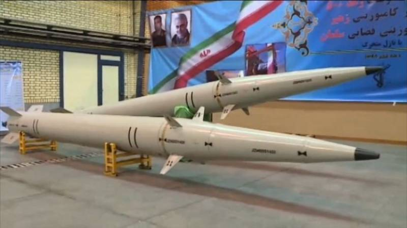 Iran test-fires ballistic missiles on targets at sea