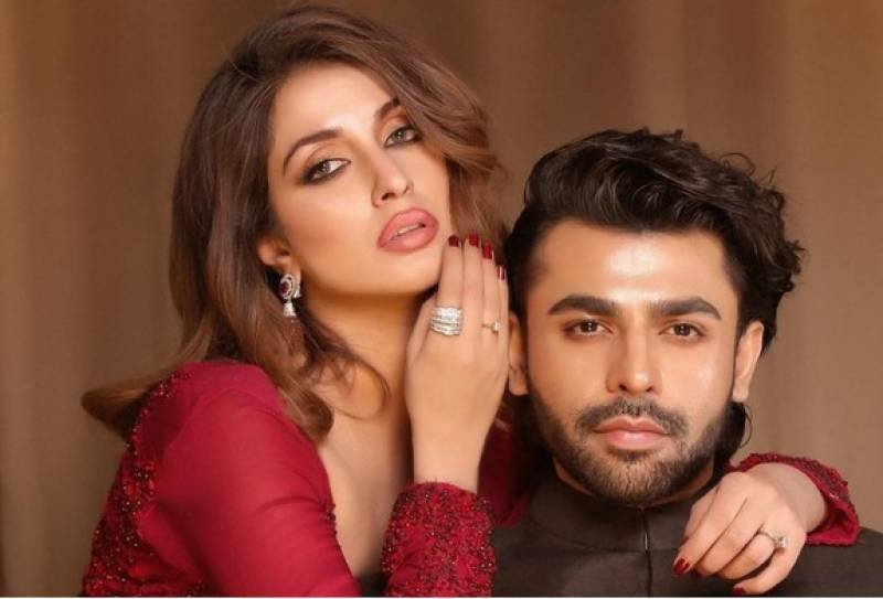 Iman Ali and Farhan Saeed write a story in their photoshoot