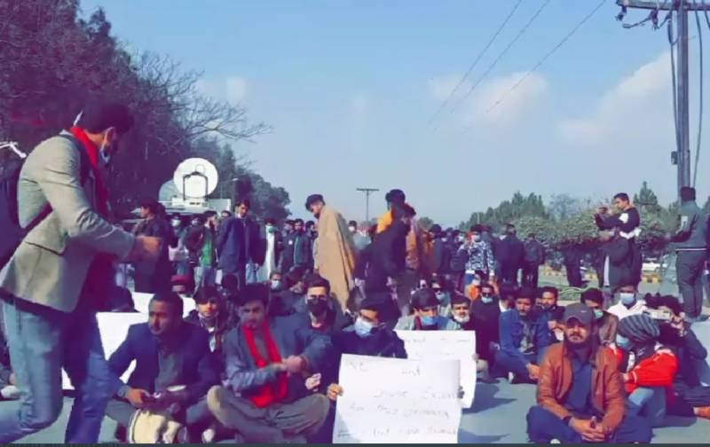 From Islamabad to Lahore, university students protesting for online exams