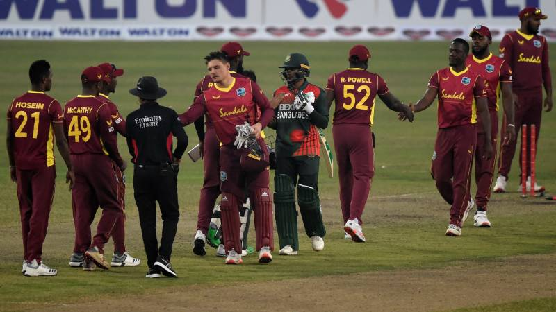 West Indies put Bangladesh in to bat in third ODI
