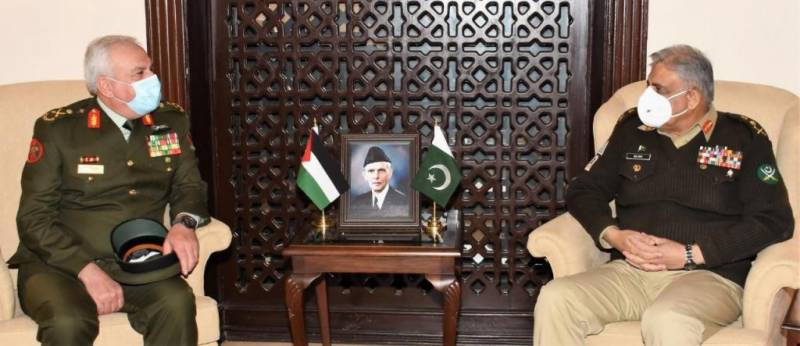 COAS vows to enhance defence ties with Jordan