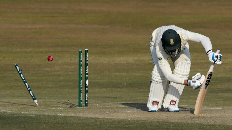 Pakistan in command despite Nortje's five-for in second Test