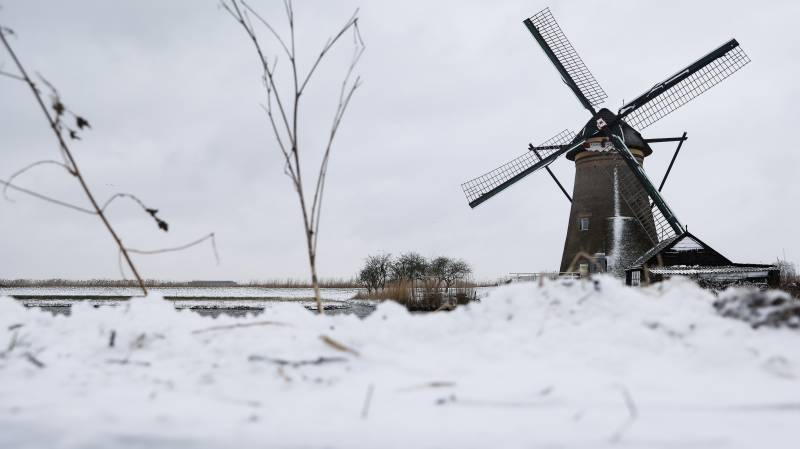 Dutch hit by first snowstorm in a decade as Europe shivers