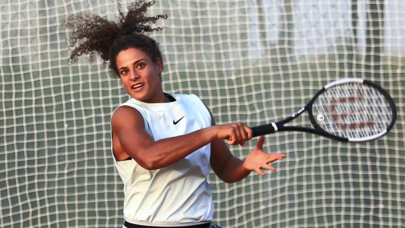 Sherif becomes first Egyptian woman to advance in Grand Slam