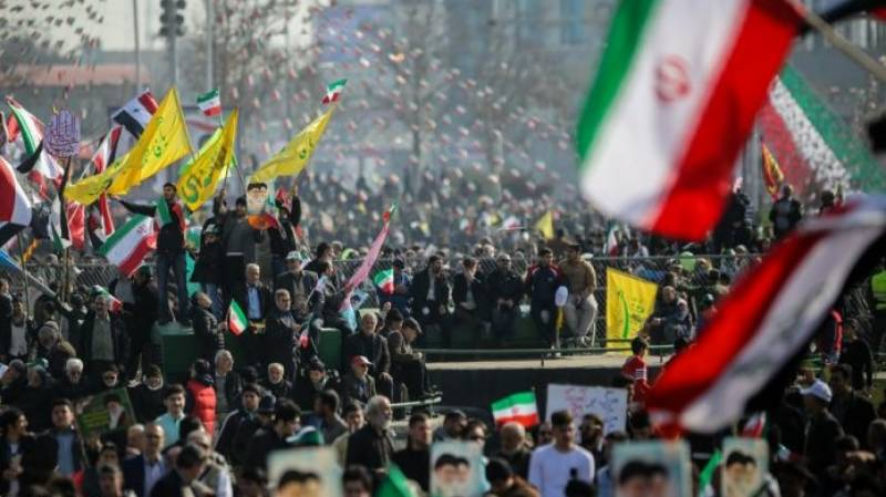 Iranians rally for 42nd anniversary of revolution