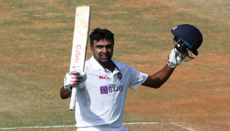 Ashwin hits century as India near victory in second Test