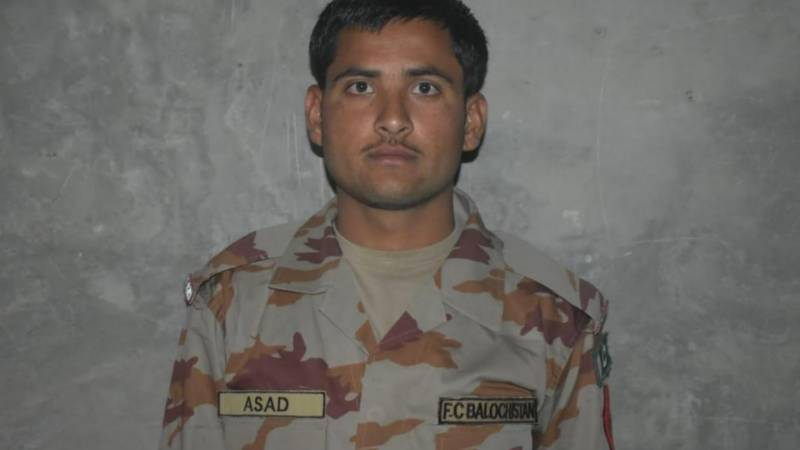 Sepoy martyred in terrorists attack on FC checkpost in Balochistan