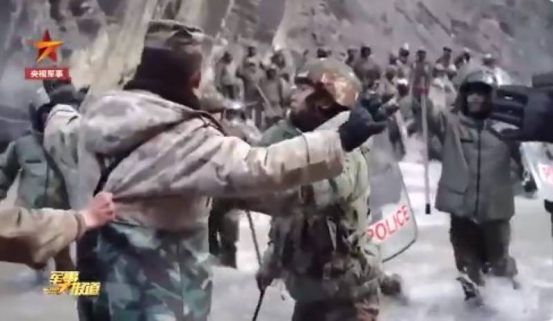 China shares dramatic video of border clash with India troops