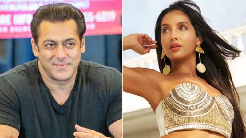 Salman Khan falls off stage while dancing with Nora Fatehi on Garmi song