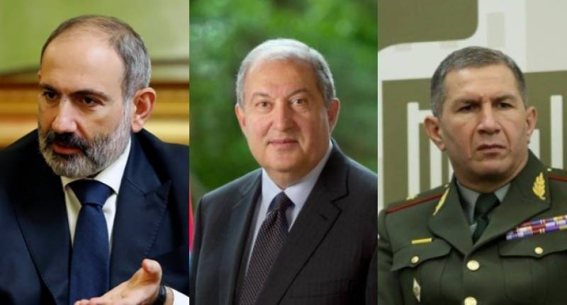 Armenian president rejects order to dismiss army chief
