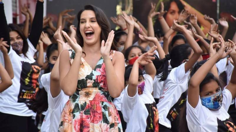 Nora Fatehi dances with kids on Dilbar song, video goes viral