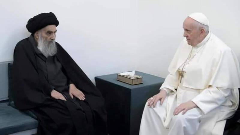Meeting Shiite cleric 'good for my soul', says pope