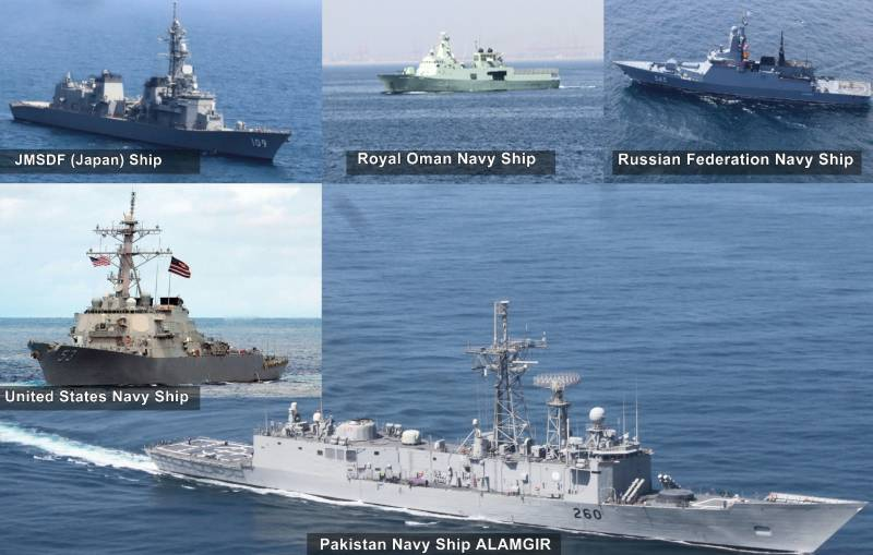 Pakistan Navy conducts bilateral exercises with Japan, Oman, Russia and United States navies