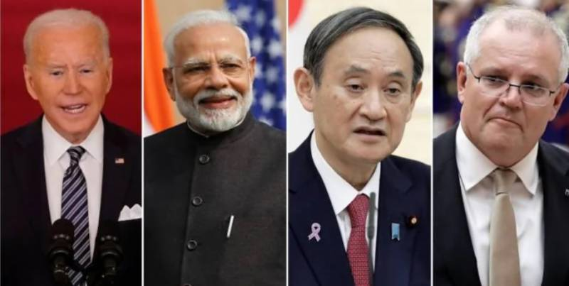 Biden holds first summit with Japan, India, Australia with eye on China