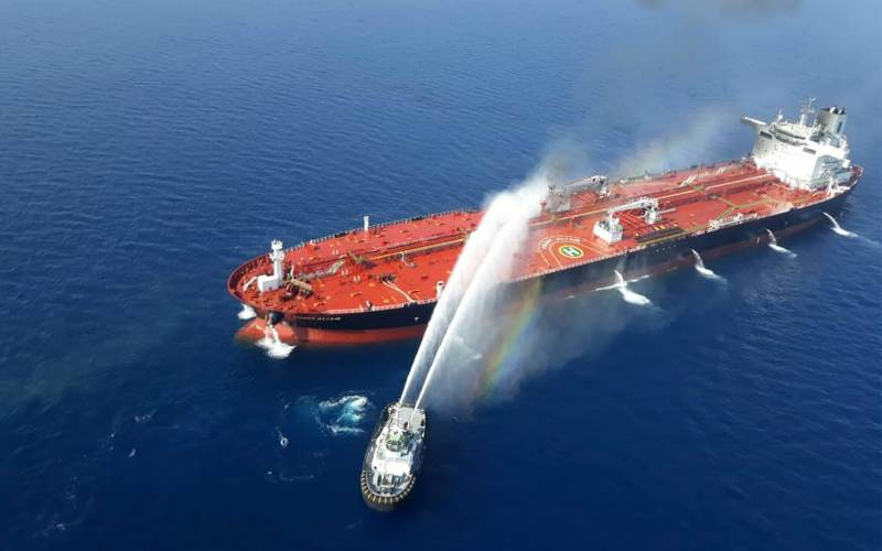 Iran firm says ship targeted in 'terrorist' attack