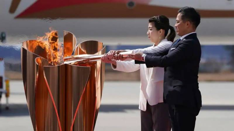 Fans barred from Tokyo Olympics torch relay start