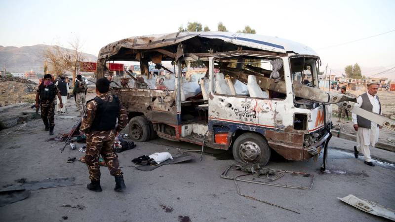 Five women and a child killed in Afghan bus bombing