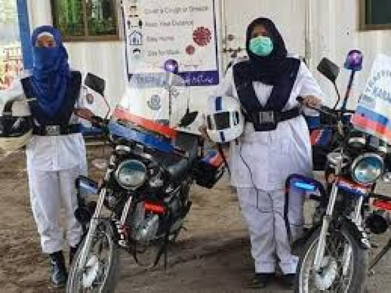 Lady traffic officers with heavy bikes deployed in Karachi